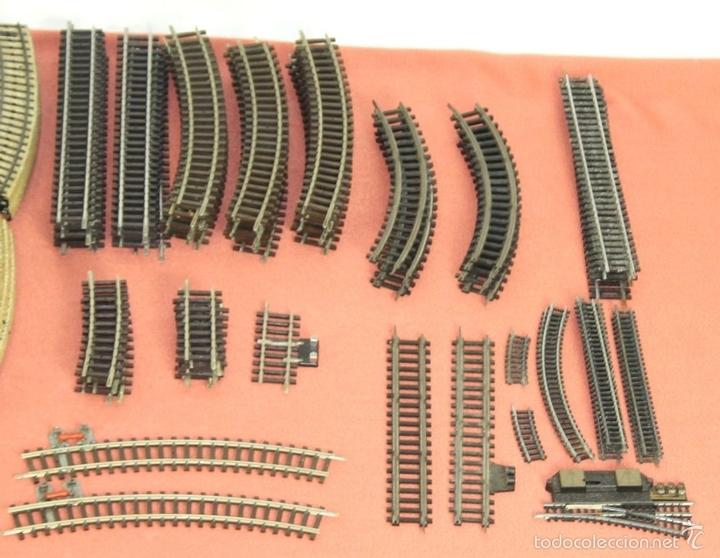 Trenes Escala: LOTE 159 DE VIAS DE TREN. VARIAS MARCAS Y ESCALAS. CIRCA 1960. - Foto 5 - 155956616