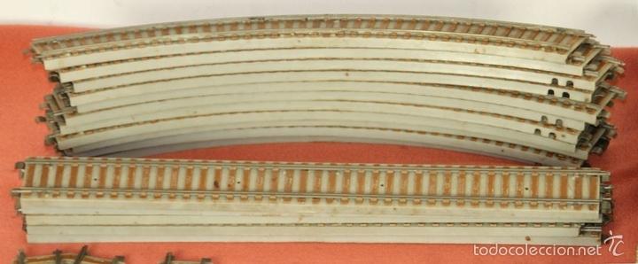 Trenes Escala: LOTE 159 DE VIAS DE TREN. VARIAS MARCAS Y ESCALAS. CIRCA 1960. - Foto 6 - 155956616