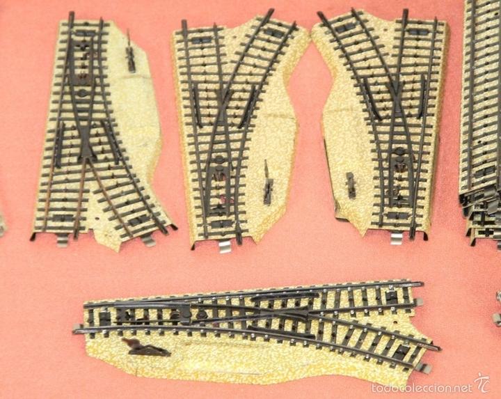 Trenes Escala: LOTE 159 DE VIAS DE TREN. VARIAS MARCAS Y ESCALAS. CIRCA 1960. - Foto 7 - 155956616
