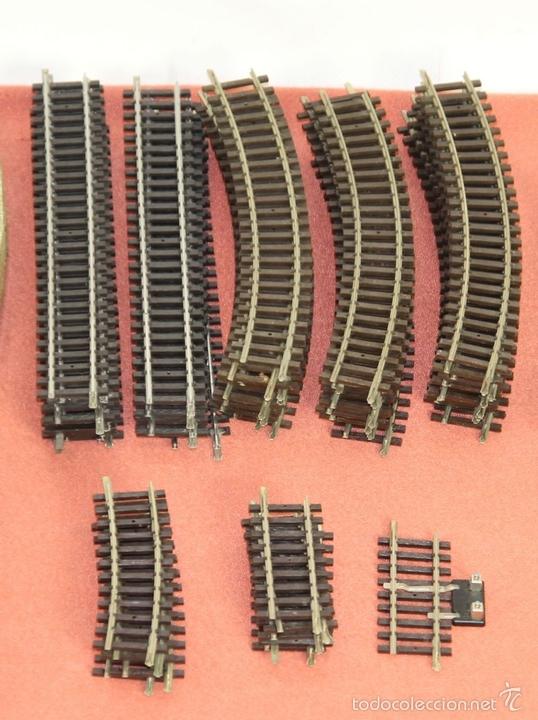 Trenes Escala: LOTE 159 DE VIAS DE TREN. VARIAS MARCAS Y ESCALAS. CIRCA 1960. - Foto 10 - 155956616