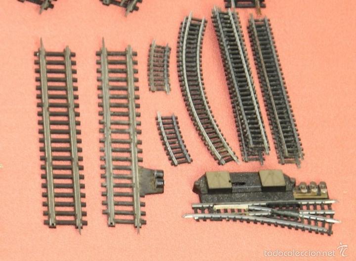 Trenes Escala: LOTE 159 DE VIAS DE TREN. VARIAS MARCAS Y ESCALAS. CIRCA 1960. - Foto 12 - 155956616