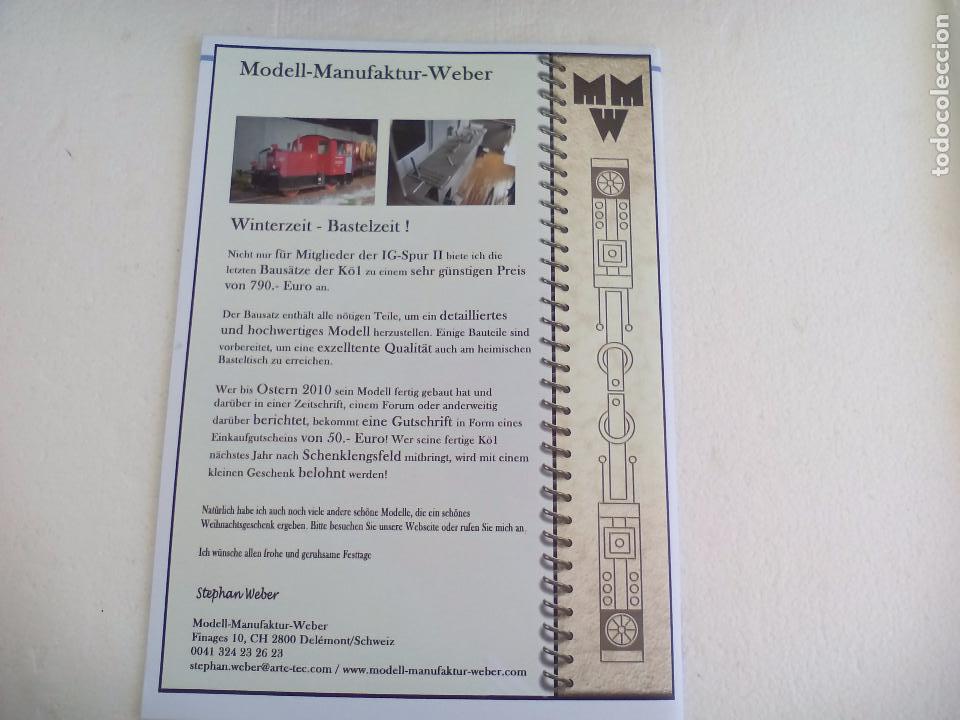 Trenes Escala: IG Spur II, MItteilungen. Nr 88. 2009. Revista Maquetas, trenes tren H0, modelismo. Maqueta. - Foto 7 - 65428555