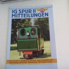 Trenes Escala: IG SPUR II, MITTEILUNGEN. NR 89. 2010. REVISTA MAQUETAS, TRENES TREN H0, MODELISMO. MAQUETA.. Lote 65428715