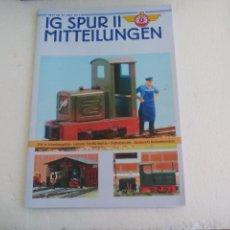 Trenes Escala: IG SPUR II, MITTEILUNGEN. NR 92. 2011. REVISTA MAQUETAS, TRENES TREN H0, MODELISMO. MAQUETA.. Lote 65429451