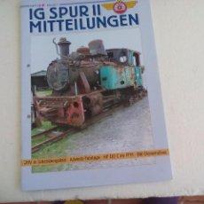 Trenes Escala: IG SPUR II, MITTEILUNGEN. NR 91. 2011. REVISTA MAQUETAS, TRENES TREN H0, MODELISMO. MAQUETA.. Lote 65429559