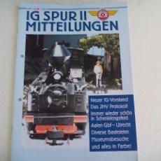 Trenes Escala: IG SPUR II, MITTEILUNGEN. NR 81. 2007. REVISTA MAQUETAS, TRENES TREN H0, MODELISMO. MAQUETA.. Lote 65429803