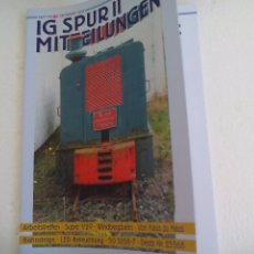 Trenes Escala: IG SPUR II, MITTEILUNGEN. NR 85. 2008. REVISTA MAQUETAS, TRENES TREN H0, MODELISMO. MAQUETA.. Lote 65429883