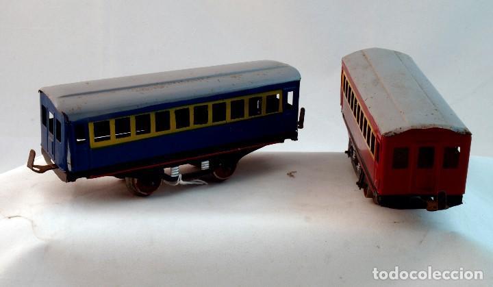 Trenes Escala: ANTIGUO TREN DE HOJALATA ELECTRICO PAYA - Foto 4 - 69362749