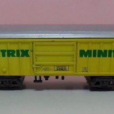 Trenes Escala: TRIX N - VAGÓN DE MERCANCÍAS MINITRIX. Lote 70018609