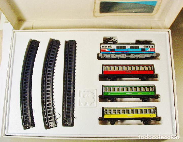 Trenes Escala: TREN ELECTRICO A PILAS PEQUETREN SEINSA REF.502 TREN VIAJEROS COLORES. CAJA ORIGINAL. NUEVO - Foto 2 - 70369217
