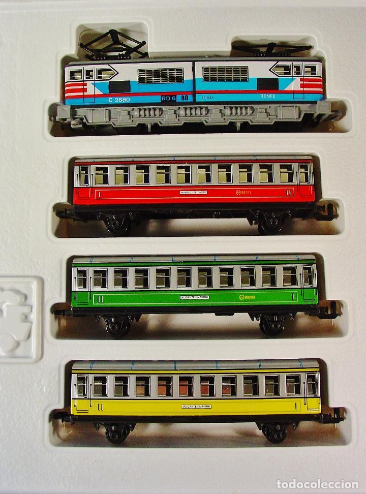 Trenes Escala: TREN ELECTRICO A PILAS PEQUETREN SEINSA REF.502 TREN VIAJEROS COLORES. CAJA ORIGINAL. NUEVO - Foto 3 - 70369217