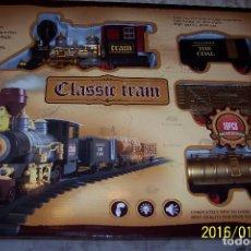 Trenes Escala: BONITO TREN CLASICO COMPLETO CON CIRCUITO. Lote 94578772