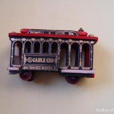 Trenes Escala: TRANVÍA MADERA: CABLE CAR SAN FRANCISCO. AÑOS 70'S ORIGINAL. ¡COLECCIONISTA!. Lote 72174887
