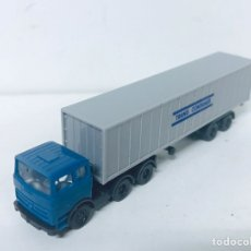 Trenes Escala: CAMION TRANS CONTAINER WIKING MERCEDES BENZ. Lote 80673315