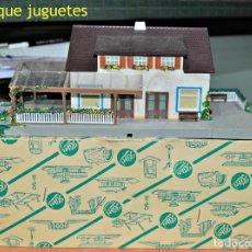 Trenes Escala: ANTIGUA ESTACIÓN ZELL DE KIBRI. AÑOS 50. ESCALA HO/00. Lote 86356756