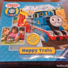 Trenes Escala: TREN THOMAS & FRIENDS - HAPPY TRAIN - RAVENSBURGER AÑO 2008 - INSTRUCCIONES- A PILAS - COMPLETO. Lote 86506416