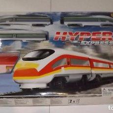 Trenes Escala: HYPER EXPRESS DE GOLDLOK, TREN A PILAS EN CAJA ORIGINAL. Lote 88441200