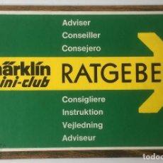 Trenes Escala: INSTRUCCIONES MARKLIN MINI-CLUB.RATGEBER. TRENES. MODELISMO.. Lote 88917240
