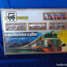 Trenes Escala: PEQUETREN - TREN ELÉTRICO A PILAS, FABRICADO POR SEINSA SPAIN,REF: 508, VER FOTOS Y DESCRIPCIÓN!! SM. Lote 158405186