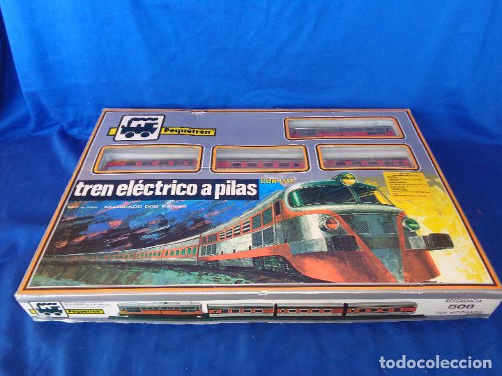 Trenes Escala: PEQUETREN - TREN ELÉTRICO A PILAS, FABRICADO POR SEINSA SPAIN,REF: 508, VER FOTOS Y DESCRIPCIÓN!! SM - Foto 2 - 227947725