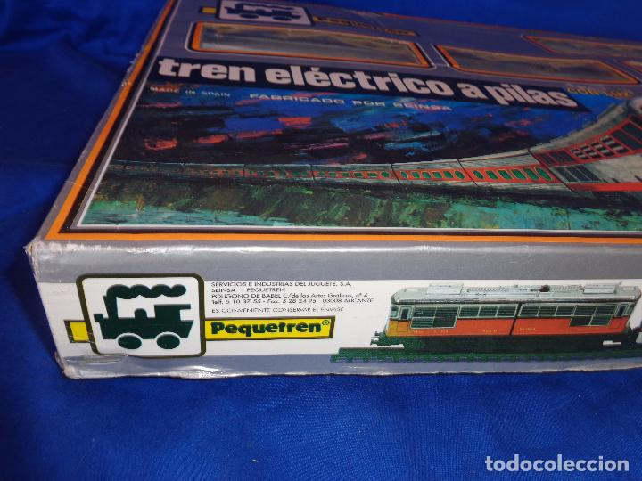Trenes Escala: PEQUETREN - TREN ELÉTRICO A PILAS, FABRICADO POR SEINSA SPAIN,REF: 508, VER FOTOS Y DESCRIPCIÓN!! SM - Foto 3 - 227947725