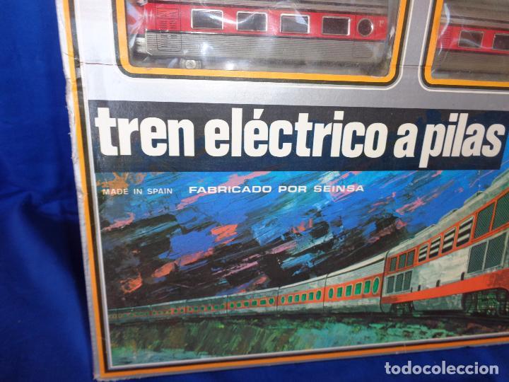 Trenes Escala: PEQUETREN - TREN ELÉTRICO A PILAS, FABRICADO POR SEINSA SPAIN,REF: 508, VER FOTOS Y DESCRIPCIÓN!! SM - Foto 4 - 227947725