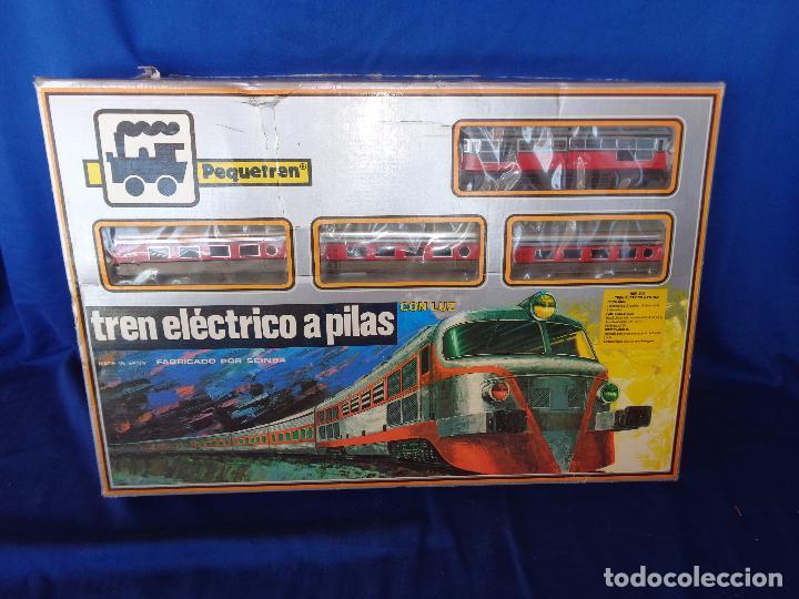 Trenes Escala: PEQUETREN - TREN ELÉTRICO A PILAS, FABRICADO POR SEINSA SPAIN,REF: 508, VER FOTOS Y DESCRIPCIÓN!! SM - Foto 5 - 227947725