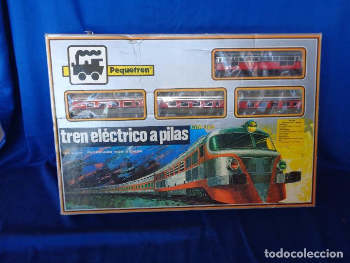 Trenes Escala: PEQUETREN - TREN ELÉTRICO A PILAS, FABRICADO POR SEINSA SPAIN,REF: 508, VER FOTOS Y DESCRIPCIÓN!! SM - Foto 6 - 227947725