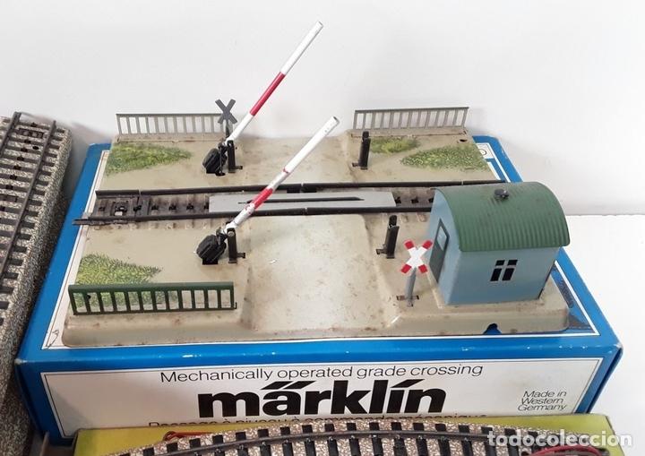 Trenes Escala: GRAN LOTE DE 235 VIAS MARKLIN Y ELECTROTEN. METAL. ESCALA H0. CIRCA 1960 (VER DESCRIPCION) - Foto 3 - 91430285
