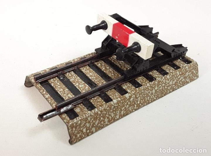 Trenes Escala: GRAN LOTE DE 235 VIAS MARKLIN Y ELECTROTEN. METAL. ESCALA H0. CIRCA 1960 (VER DESCRIPCION) - Foto 12 - 91430285