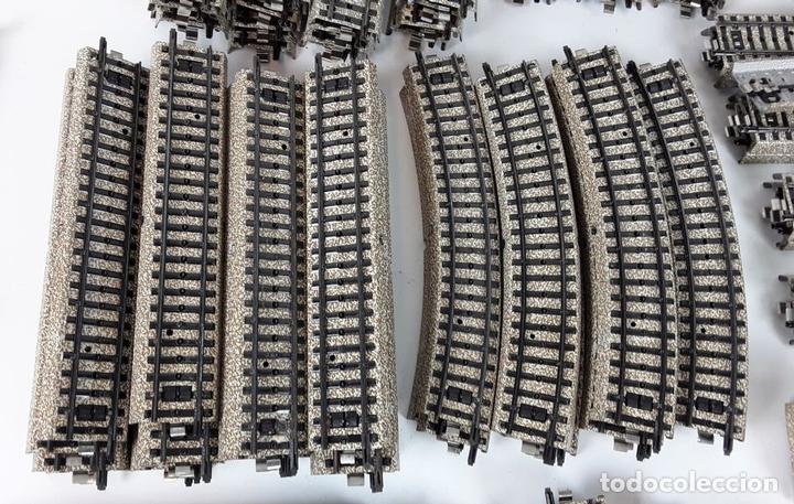 Trenes Escala: GRAN LOTE DE 235 VIAS MARKLIN Y ELECTROTEN. METAL. ESCALA H0. CIRCA 1960 (VER DESCRIPCION) - Foto 27 - 91430285