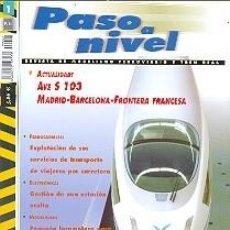 Trenes Escala: REVISTA PASO A NIVEL Nº 1. REF. PASOANIVEL-1. Lote 154559004
