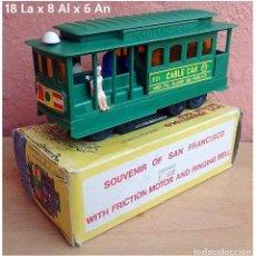 Trenes Escala: TRANVÍA CABLE CAR SAN FRANCISCO - PLÁSTICO. Lote 93645250