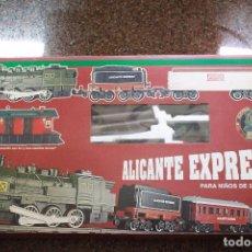 Trenes Escala: TREN DE JUGUETE ALICANTE EXPRESS A PILAS,3 METROS DE DIÁMETRO, EN SU CAJA ORIGINAL.. Lote 94012360