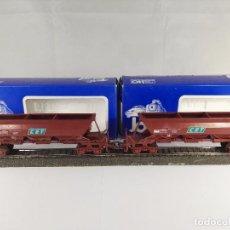Trenes Escala: LOTE DE 2 VAGONES TOLVA CET SNCF JOUEF 6643 ESCALA H0. Lote 95694787