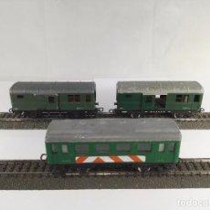 Trenes Escala: LOTE DE 3 VAGONES PASAJEROS 1600 + FURGONES 1603 RENFE JYESA ESCALA H0. Lote 95694995