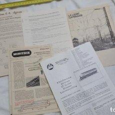 Trenes Escala: CATALOGOS INSTRUCCIONES VARIOS MINITRIX JYESA. Lote 95968591