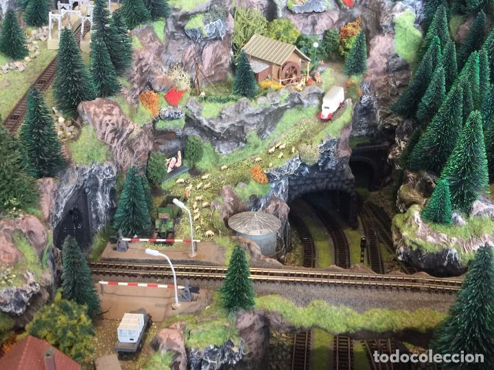 Trenes Escala: Extraordinaria y única MAQUETA DE TREN, gran tamaño, mas de 3 metros. Escala N. Leer mas... -vídeo- - Foto 3 - 95985167