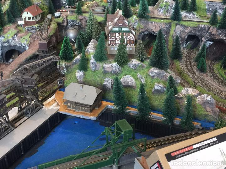 Trenes Escala: Extraordinaria y única MAQUETA DE TREN, gran tamaño, mas de 3 metros. Escala N. Leer mas... -vídeo- - Foto 6 - 95985167