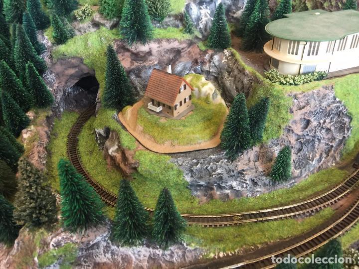 Trenes Escala: Extraordinaria y única MAQUETA DE TREN, gran tamaño, mas de 3 metros. Escala N. Leer mas... -vídeo- - Foto 9 - 95985167