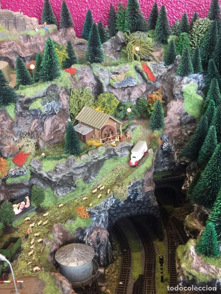 Trenes Escala: Extraordinaria y única MAQUETA DE TREN, gran tamaño, mas de 3 metros. Escala N. Leer mas... -vídeo- - Foto 11 - 95985167