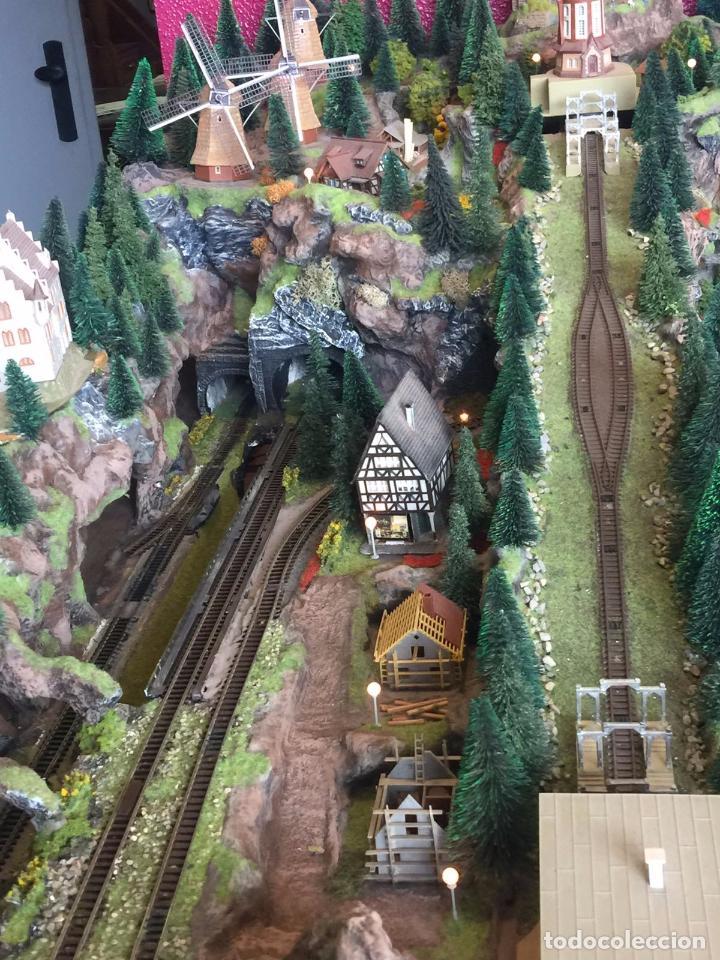 Trenes Escala: Extraordinaria y única MAQUETA DE TREN, gran tamaño, mas de 3 metros. Escala N. Leer mas... -vídeo- - Foto 14 - 95985167