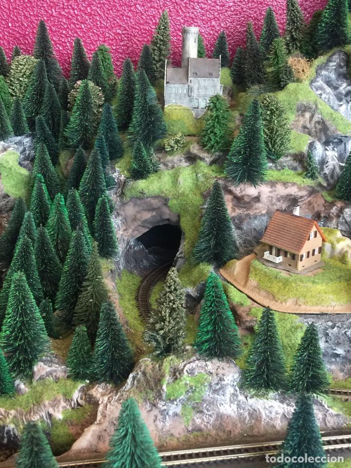 Trenes Escala: Extraordinaria y única MAQUETA DE TREN, gran tamaño, mas de 3 metros. Escala N. Leer mas... -vídeo- - Foto 15 - 95985167