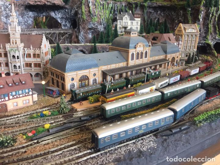 Trenes Escala: Extraordinaria y única MAQUETA DE TREN, gran tamaño, mas de 3 metros. Escala N. Leer mas... -vídeo- - Foto 20 - 95985167