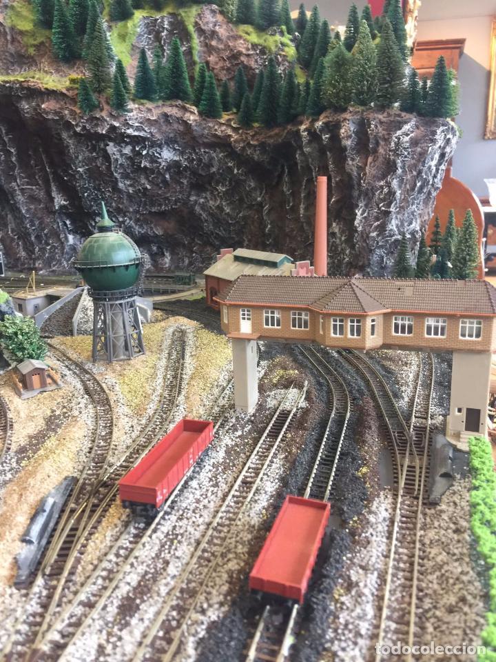 Trenes Escala: Extraordinaria y única MAQUETA DE TREN, gran tamaño, mas de 3 metros. Escala N. Leer mas... -vídeo- - Foto 22 - 95985167