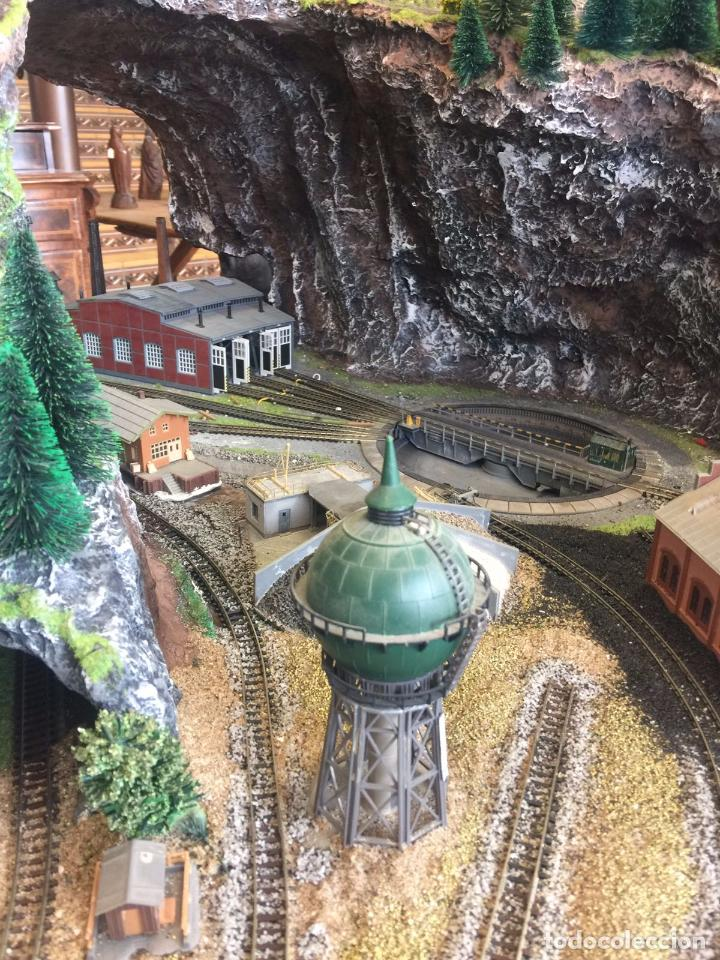 Trenes Escala: Extraordinaria y única MAQUETA DE TREN, gran tamaño, mas de 3 metros. Escala N. Leer mas... -vídeo- - Foto 23 - 95985167
