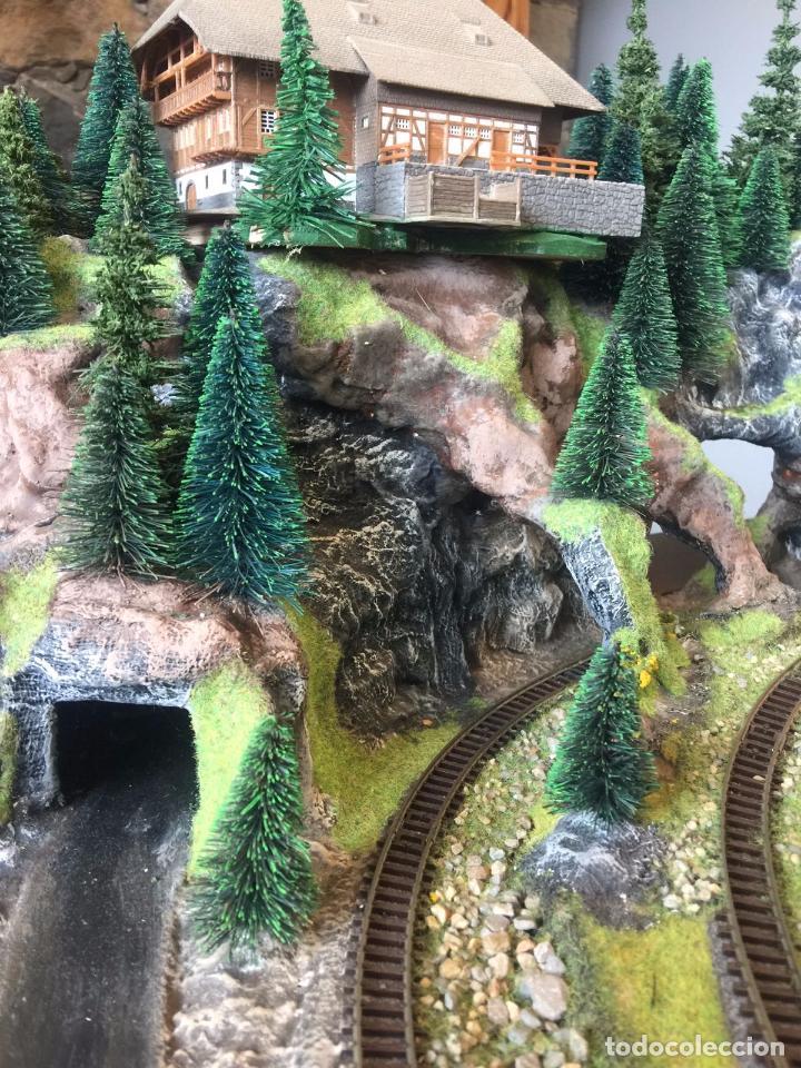 Trenes Escala: Extraordinaria y única MAQUETA DE TREN, gran tamaño, mas de 3 metros. Escala N. Leer mas... -vídeo- - Foto 24 - 95985167