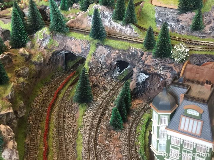 Trenes Escala: Extraordinaria y única MAQUETA DE TREN, gran tamaño, mas de 3 metros. Escala N. Leer mas... -vídeo- - Foto 25 - 95985167