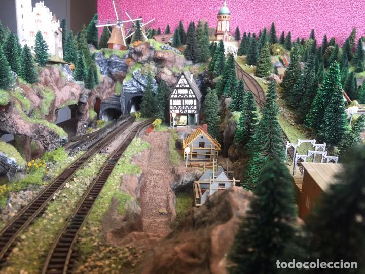 Trenes Escala: Extraordinaria y única MAQUETA DE TREN, gran tamaño, mas de 3 metros. Escala N. Leer mas... -vídeo- - Foto 27 - 95985167