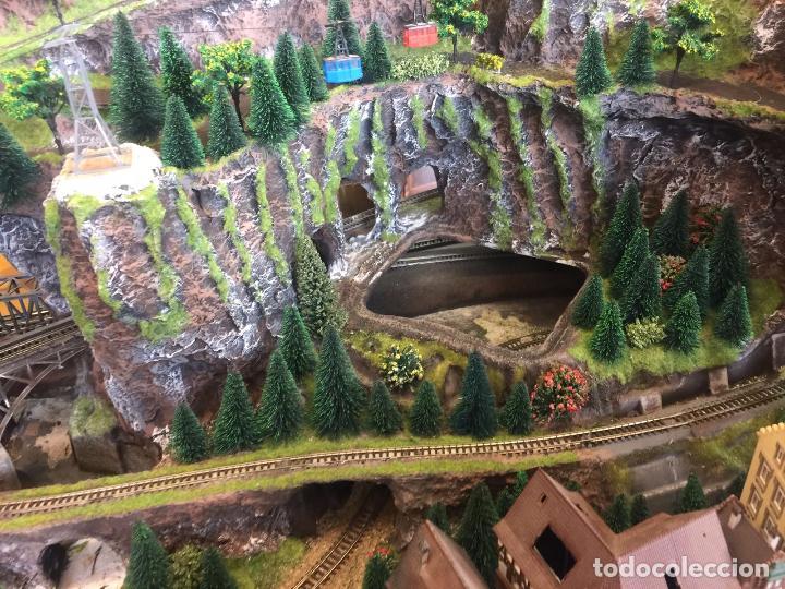 Trenes Escala: Extraordinaria y única MAQUETA DE TREN, gran tamaño, mas de 3 metros. Escala N. Leer mas... -vídeo- - Foto 30 - 95985167